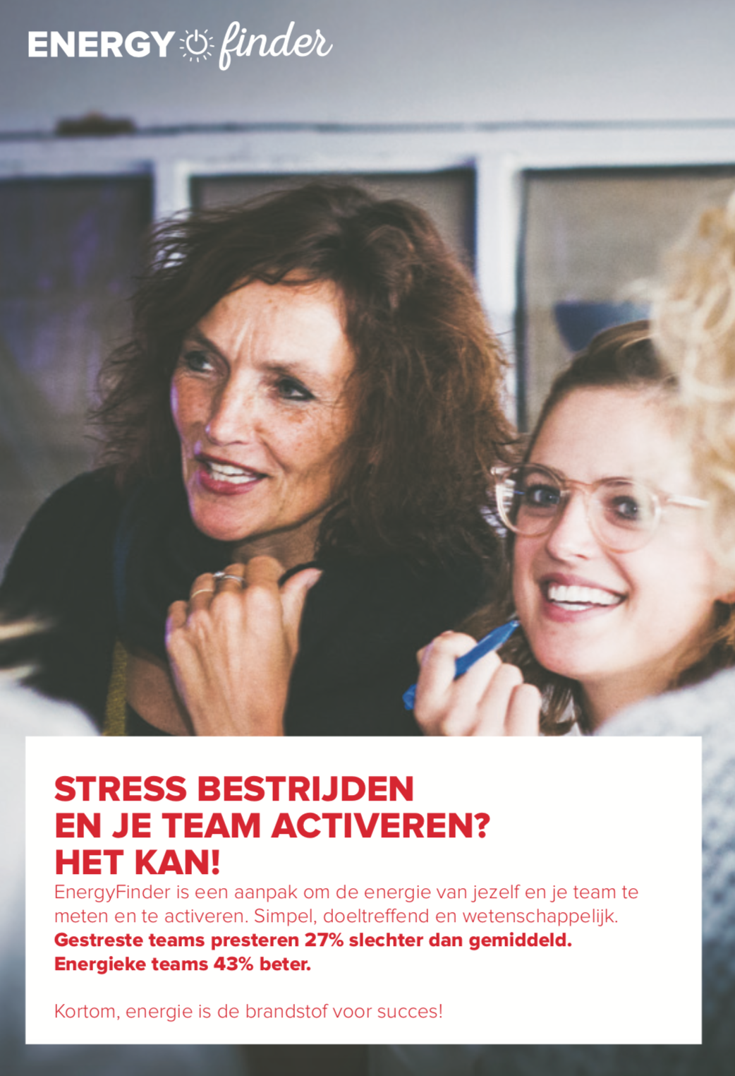 Meer energie in je team? Download de flyer