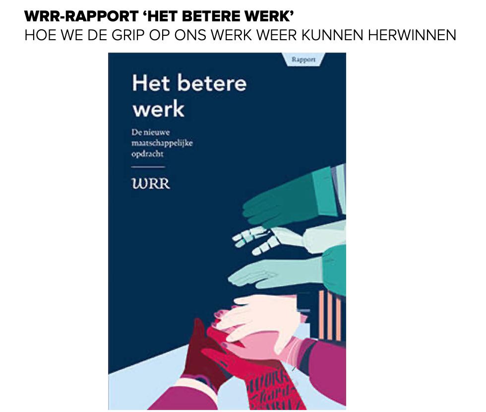 WRR-rapport Het Betere Werk