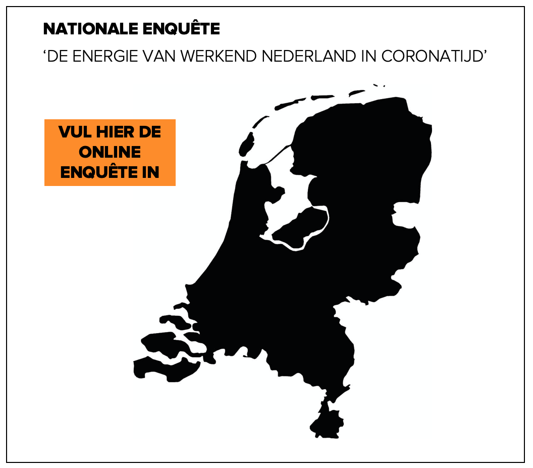 NATIONALE ENQUÊTE 'DE ENERGIE VAN WERKEND NEDERLAND IN CORONATIJD'